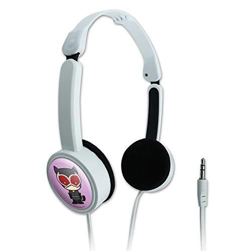 GRAPHICS & MORE Batman Catwoman Cute Chibi Character Novelty Travel Portable On-Ear Foldable Headphones