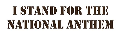 BellaCross Decals for Cars Outdoor Decal is a Vinyl Outdoor Decal Displaying a The National Anthem, Great Decor for Your Automobile, Vehicle, car or Truck, Similar to Sticker - Brown