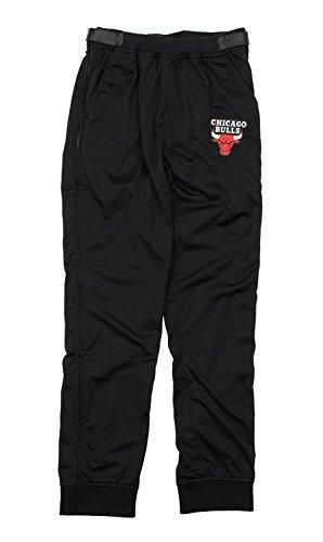 1115c5fb Zipway NBA Mens Tricot Jogger Tear-Away Pants, Black - Team Options (Chicago