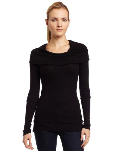 Splendid Women's Thermal Cowl, Black, (Splendid Long Sleeve Tunic)