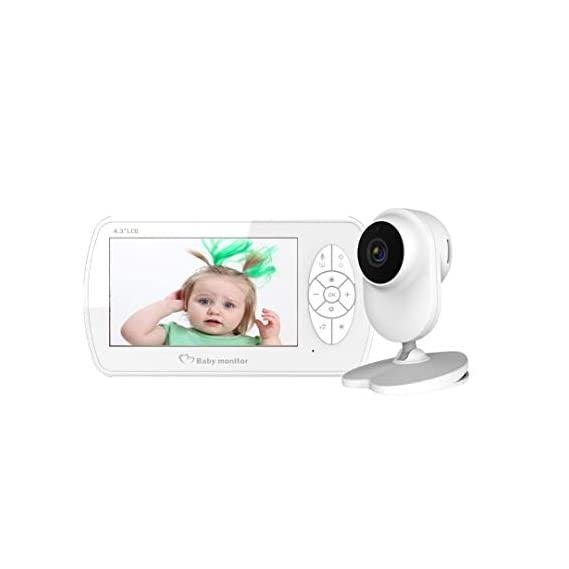 MOSFET Video Baby Monitor with 4.3 Inch LCD Display, Digital Camera, Infrared Night Vision, Two Way Communication