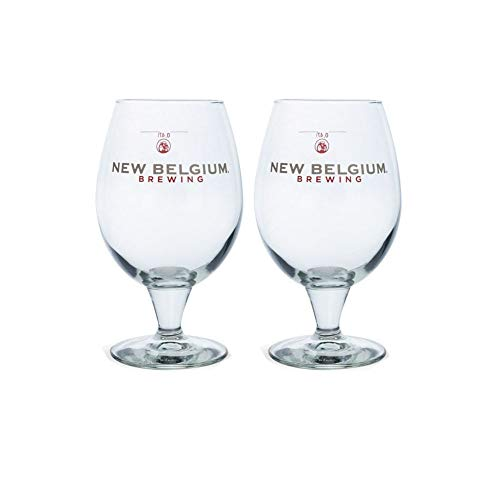 New Beer - New Belgium Brewing Co. Globe Beer Glass - 16 oz - 2 Pack