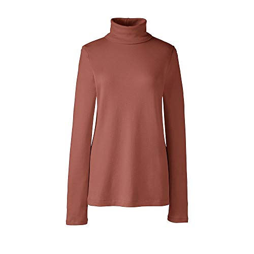 Interlock Turtleneck Ladies Mock (Lands' End Women's Plus Size Shaped Supima Turtleneck, 2X, Cedar Wood)