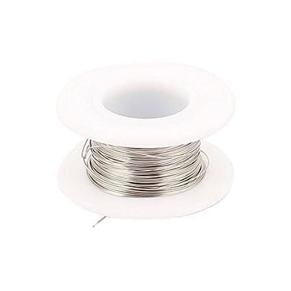 eDealMax 10M 32.8ft 0.55mm 23AWG cable Nichrome calentador de alambre para de elemento calentador