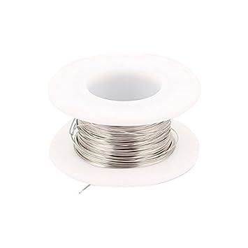 eDealMax 10M 32.8ft 0.55mm 23AWG cable Nichrome calentador de alambre para de elemento calentador - - Amazon.com