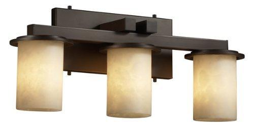 Justice Design Group CLD-8773-10-NCKL Clouds Collection Dakota 3-Light Straight Bath Bar Light (Cld Three Light)
