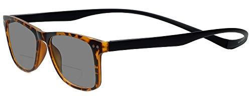 Astoria Clear Crystal (Magz Astoria Bi-Focal Reading Sunglasses w/Magnetic Snap It Design)