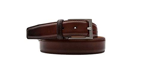 Magnanni Men's Belt Hand Burnished Calf Leather 1078 Midbrown