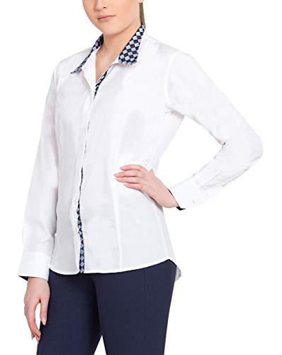 - Equine Couture Women's Isabel Coolmax Show Shirt, White/Argyle, 34