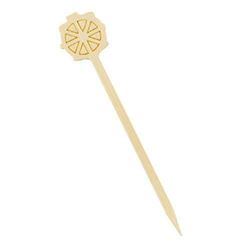 PacknWood-Nautical-Wheel-Bamboo-Pick-Skewer-35-Length-Case-of-2000