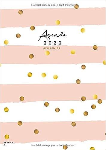 Agenda 2020 Semainier Vertical Agenda 2020 Francais A4 12 Mois Calendrier Janvier A Decembre 2020 1 Semaine Sur 2 Pages Pois Rose French Edition Collectif Papeterie 9781711937496 Amazon Com Books