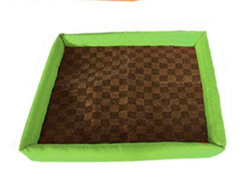 CFHJN HOME Puppy Dog Pet Cooler Cold Bed Pet Cooling Mat(Green,M) Pet Bed Blanket