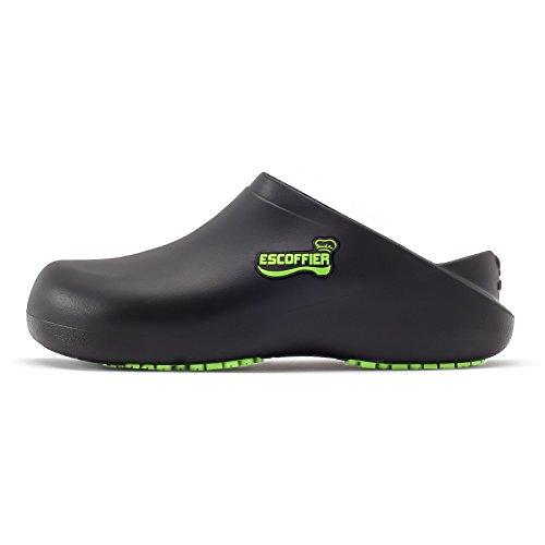 for Black Kitchen Clog Shoes Slip Women Chef Waterproof Slip Work Resistant ESCOFFIER Non Men Mule q6FPtw