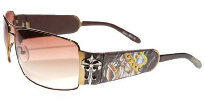 (Ed Hardy Ehs-017 King Of Bests Dog Sunglasses - Cocoa/Brown)