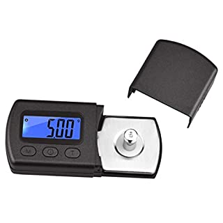 Samyo Professional High Precise Digital Mini Turntable Stylus Force Scale Gauge Tester 0.01g Blue LCD Backlight for Tonearm Phono Cartridge Jewellery Scale Weighing
