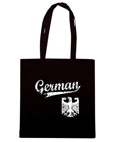 Speed Shirt Borsa Shopper Nera BEER0062 GERMAN BASEBALL STYLE