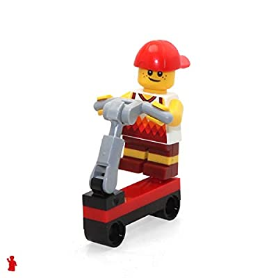 LEGO City Beach MiniFigure: Scooter Boy (w/ Basketball Jersey & Scooter) 60153: Toys & Games