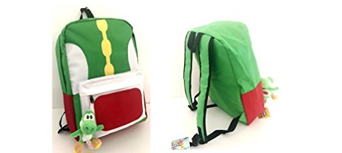 "Nintendo Yoshi Green School Backapck 17"" with Bonus Green"