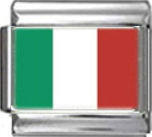 - Stylysh Charms Italy Italian Flag Photo Italian 9mm Link PC086
