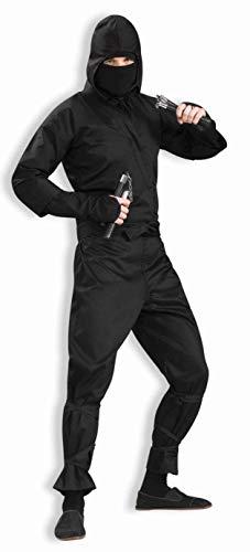 Forum 75571-BLK-XL Men's Deluxe Ninja Adult Costume, X-Large, Black, Pack of 1