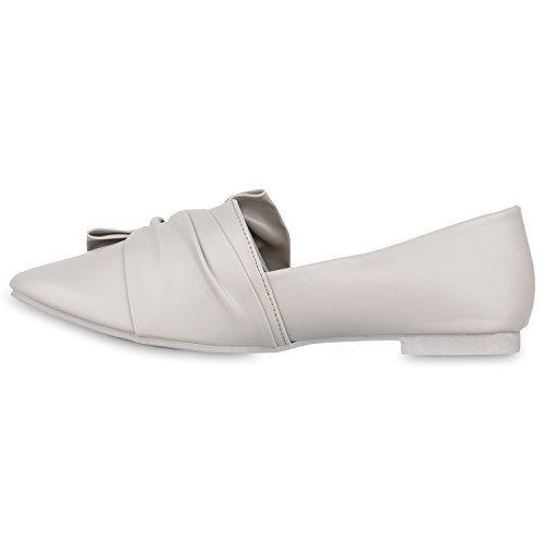 3008ca0b22abff Damen Slipper Loafers Schleifen Glitzer Flats Profilsohle Schuhe Flandell  Hellgrau ...