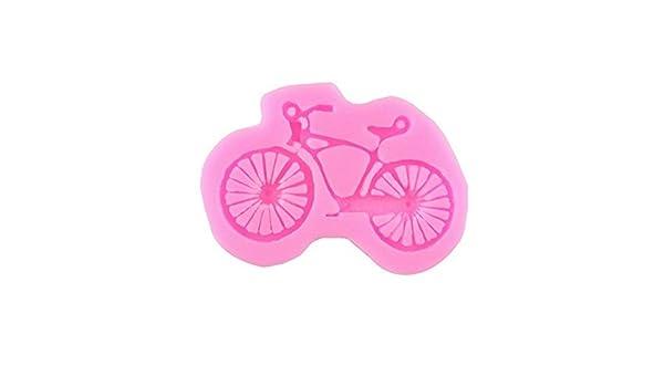 Juego de moldes de jabón de silicona Forma de la bicicleta 3D ...