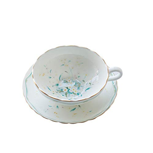 Creative Office Porcelain European Coffee Cup Saucer Set Luxury White Porcelain Tea Cup Decoration Supplies,Blue