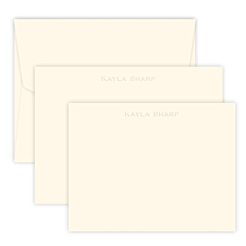 Personalized Embossed Stationery Set - 100 Pieces