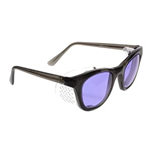 Ace Didymium Glass Working Spectacles in Economy Plastic Safety Frame with Permanent Side Shields - 50mm Eye Size by ACE Glass