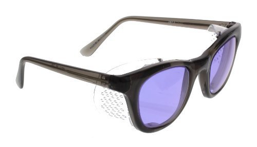 Ace Didymium Glass Working Spectacles in Economy Plastic Safety Frame with Permanent Side Shields - 50mm Eye Size by ACE - Spectacle Online Frame