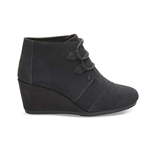 TOMS Forged Iron Grey Suede Women Kala Bootie 10012957 (Size: 8.5)