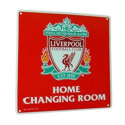 Matching Bedrooms Football Club Liverpool Home Changing Room Metal Sign Plate.