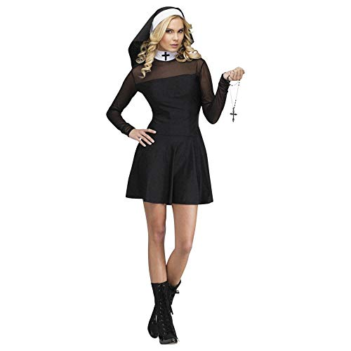Fun World Costumes Women's Sexy Sister Adult Costume, Black, Medium/Large -