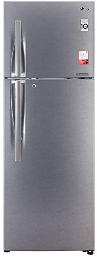 LG 360 L 3 Star Inverter Linear Frost-Free Double Door Refrigerator (GL-T402JDS3, Dazzle Steel, Convertible)