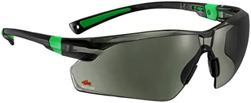 dff66af8629 NoCry Work and Sports Safety Sunglasses with Green Tinted Scratch Resistant  Wrap-Around Lenses and No-Slip Grips