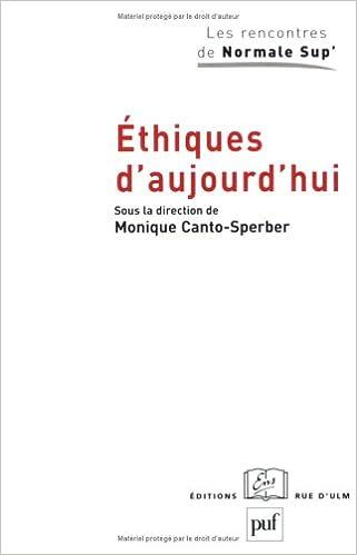 Lire Éthiques D'aujourd'hui pdf epub