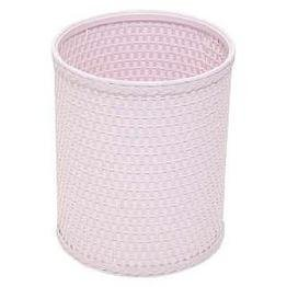 Chelsea Collection Decorator Color Round Wicker Wastebasket R426CP (White Wicker Bathroom Accessories)