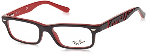 Ray Ban Junior RY1535 Eyeglasses-3573 Top Black On - Eyeglass Ray Red Ban Frames