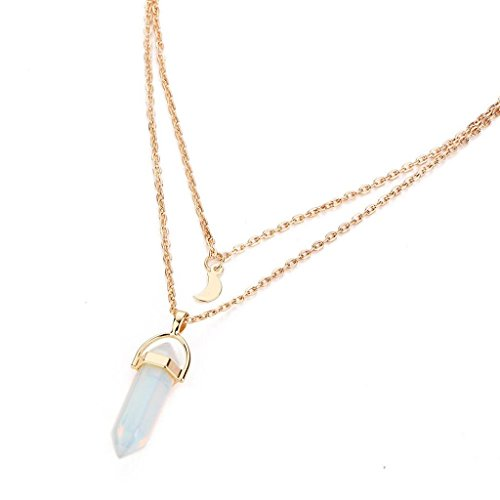 Creazrise Clearance! Women Y-Necklaces Layered Rinestone Pendant Necklace Ladies Multilayer Irregular Pendant Choker Chain (White) (Station Circle Pearl White Necklace)