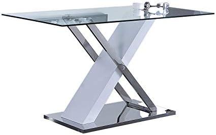 Adec - Mint, Mesa de Comedor Fija, Mesa de Cristal Comedor Salon o ...