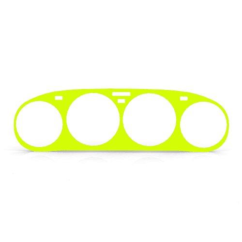 Key Lime Gloss Gauge Cluster Dash Bezel Trim fits: 1978-1988 Porsche 928 - Ferreus Industries - BZL-141-Key-Lime-035-01