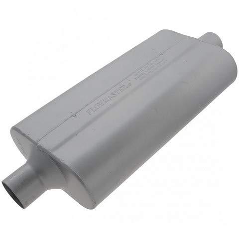 (Flowmaster 942450 50 Delta Flow Muffler - 2.25 Center IN / 2.25 Center OUT - Moderate Sound)