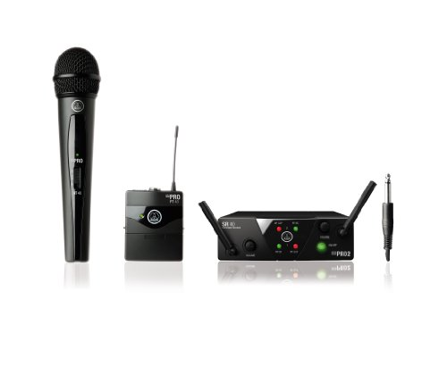 AKG WMS40 Mini Dual Vocal Handheld/Instrument Wireless Microphone System (Akg Instrument Set)