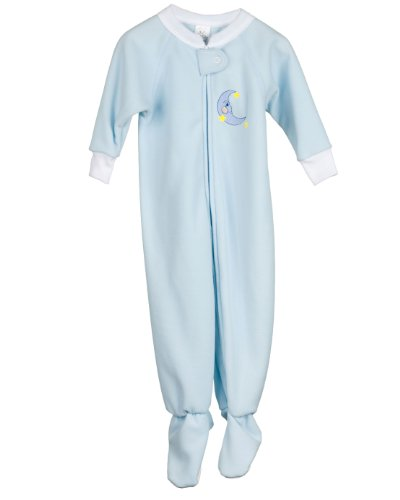 I.C. Collections Baby Boys Blue Fleece Footed Warm Sleeper, 18m - Light Arctic Blue Apparel