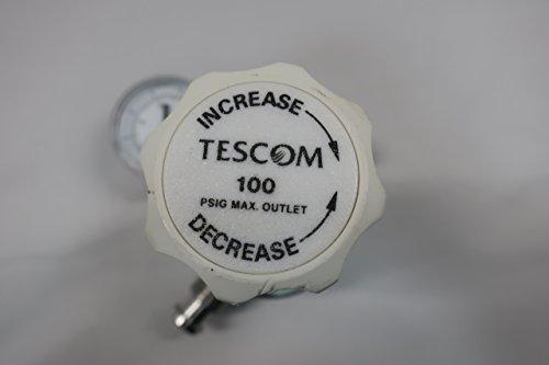 Teflon Seals 6 Port 0-25 psig Outlet 0.06 CV 316L Stainless Steel Diaphragm TESCOM SG2P2100 SG2 Two-Stage Pressure Regulator Nickel-Plated Brass Body