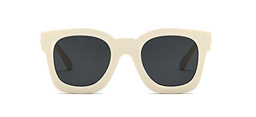 style Noir polarisées rond métallique du Lennon lunettes retro de inspirées soleil Frêne cercle C vintage en xEnWxXq6