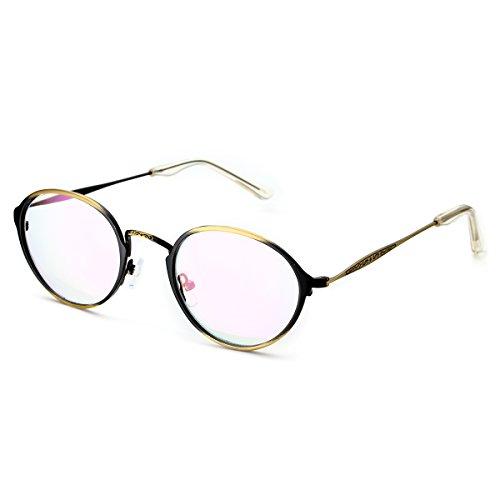 PenSee Optical Vintage Designed Metal Eye Glasses Round Circ