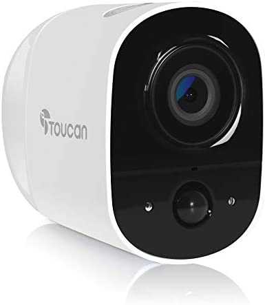 TOUCAN Wireless Security Camera Outdoor, WiFi Camera Outdoor 1080P with Night Vision, Motion Sensor Surveillance Camera, Security Camera Waterproof Outdoor IP65, See and Talk,Magnetic Mount,View 131°