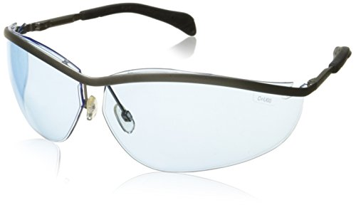 Crews KD213 Klondike Metal Protective Eyewear Safety Glasses Metal Frame Light Blue Lens, 1 Pair -