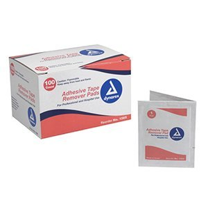 Dynarex Adhesive Tape Remover Pads - 100 Count